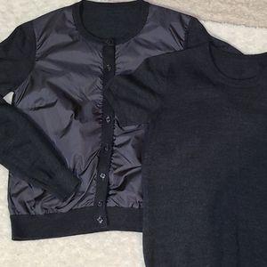 Moncler Tricot Wool Cardigan W/Matching Top